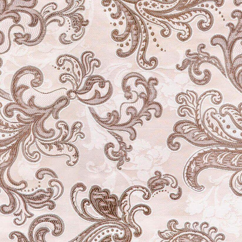 Жаккард коричневый узор
